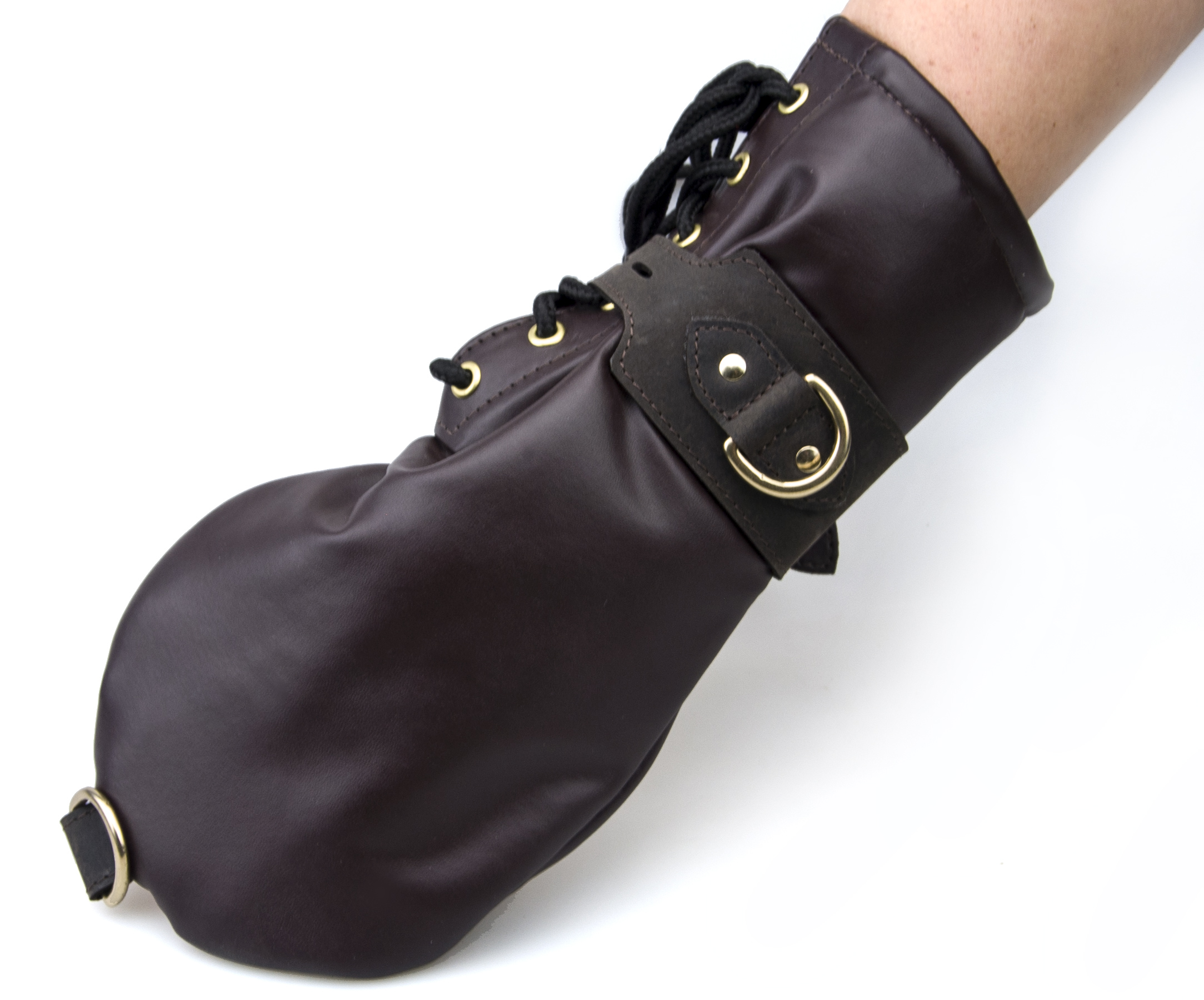 BOUND Nubuck Leather Bondage Mittens
