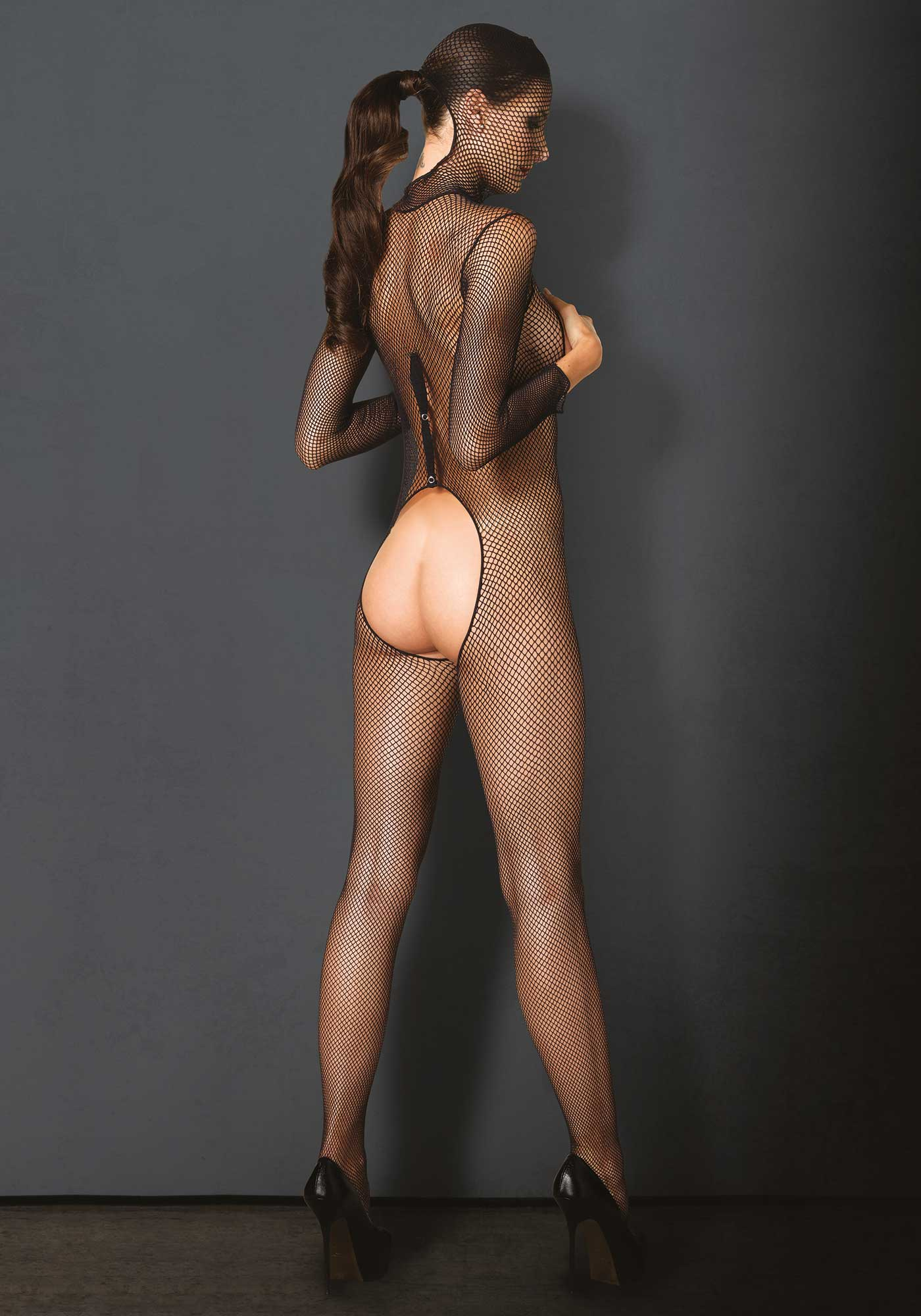 Kink Hooded Fishnet Bodystocking